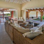 Salon confortable et spacieux, villa Jacaranda - Location Villa à Marie Galante