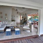 Salon confortable, villa Jacaranda- Location Villa à Marie Galante