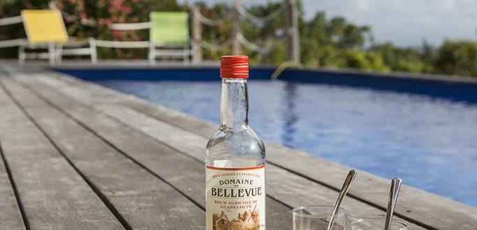 Cocktail au bord de la piscine à Marie Galante, Coccoloba - Location Villa à Marie Galante