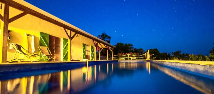 Belle villa la nuit, Coccoloba - Location Villa à Marie Galante
