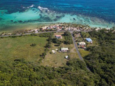 Vue aérienne Plage Marie galante - Location de villas à Marie Galante